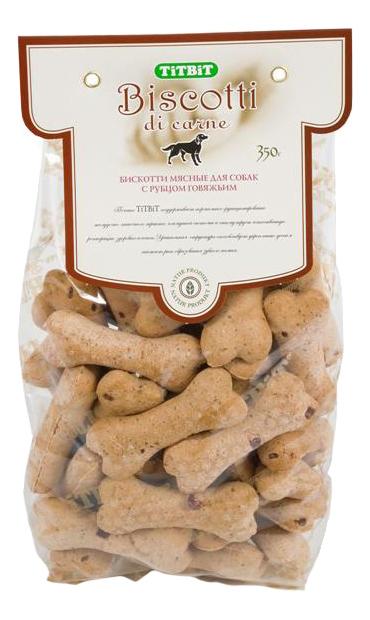 Лакомство для собак TiTBiT, печенье Бискотти с рубцом говяжьим, 350г фото