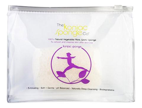 Губка The Konjac Sponge Company Sports Konjac Sponge Lilac для мытья тела фото