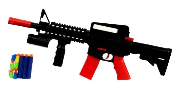 Купить Автомат игрушечный Junfa Toys с мягкими снарядами, Стрелковое игрушечное оружие
