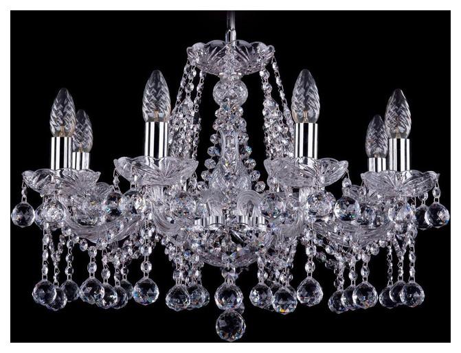 Люстра подвесная Bohemia Ivele Crystal 1413/8/200/Ni/Balls фото