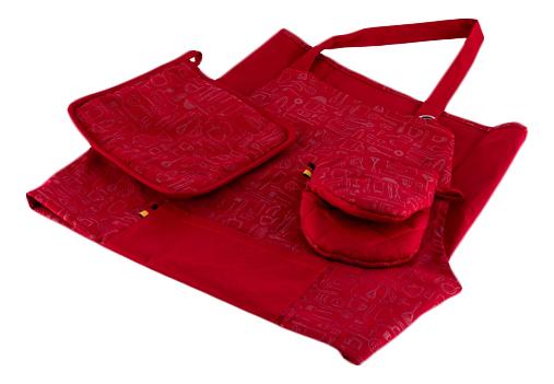 Набор кухонного текстиля GIPFEL Фартук, рукавица, прихватка красный
