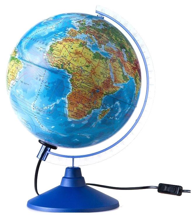 Глобус Земли Globen Евро Ке012500191 физико-политический с подсветкой 250 мм