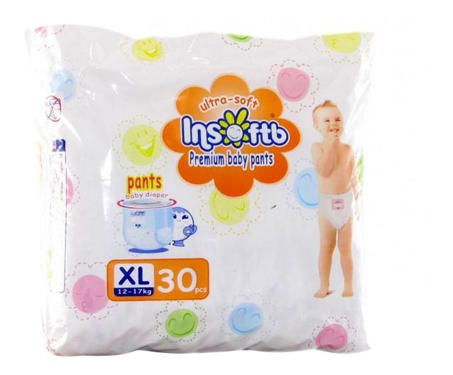 Трусики-подгузники Insoftb Premium Ultra-Soft XL (12-17 кг), 30 шт.