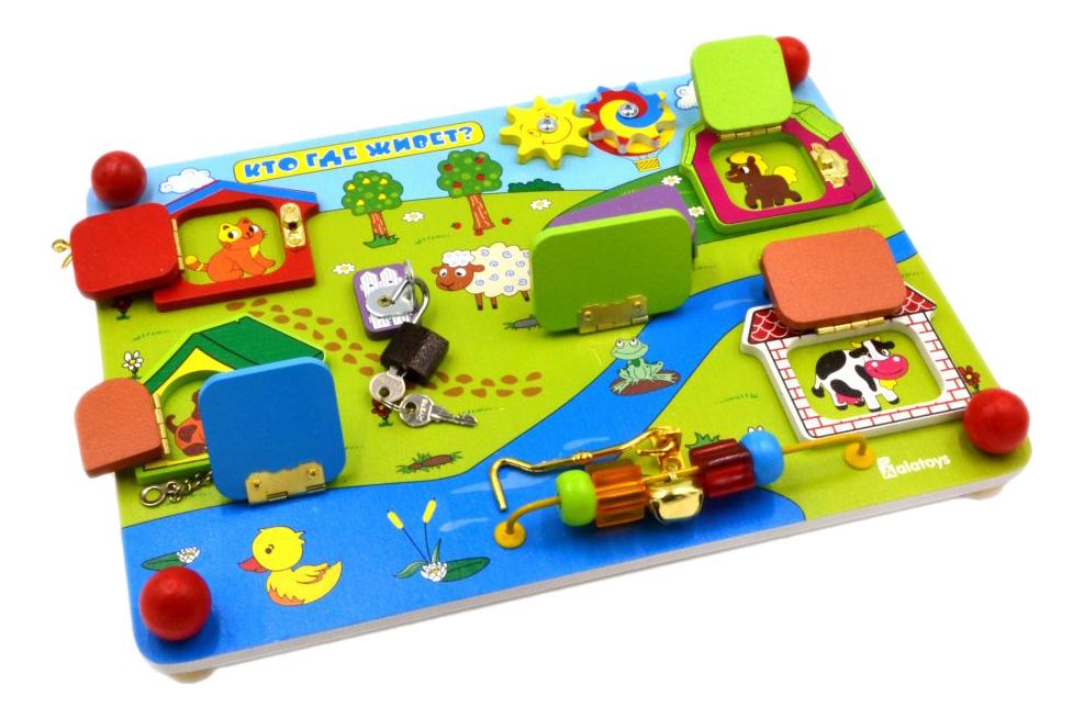 Развивающая игрушка Alatoys Кто где живет? фото