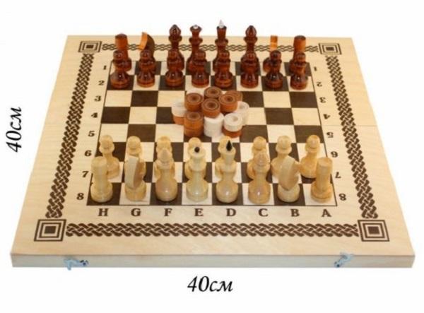 Логическая игра Шахматы игра Два в одном фото
