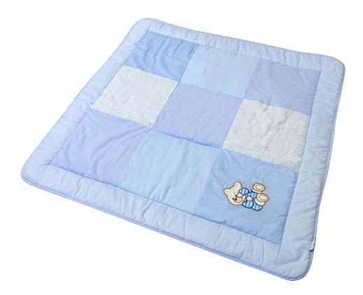 Одеяло детское Bombus Лоскутное голубое