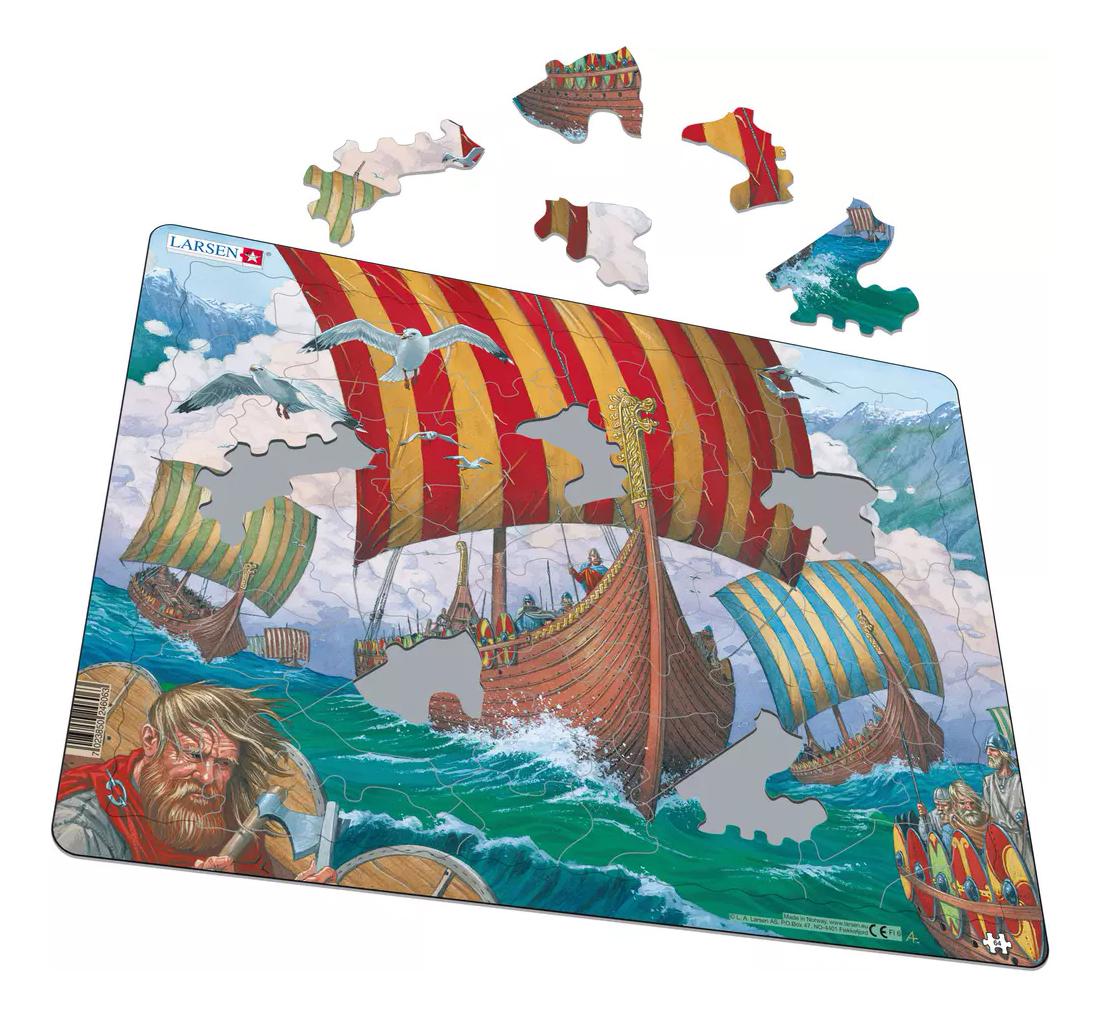 Пазл Larsen Корабли викингов фото