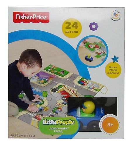 Купить Пазл Fisher-Price Мир дорог, Mattel, Пазлы