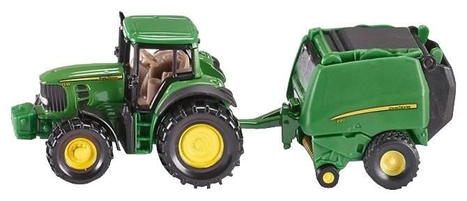 Купить Трактор с кипоукладчиком 1665, Трактор с прессподборщиком Siku, Игрушечные машинки