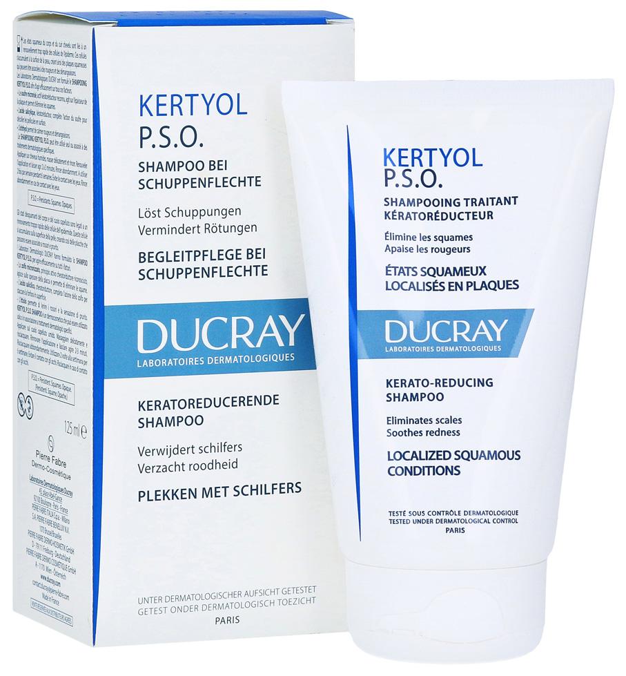 Шампунь Ducray Kertyol P.S.O. Уменьшающий шелушения кожи головы 125 мл