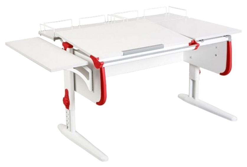 Парта Дэми White Double СУТ-25-02 Белый/Красный