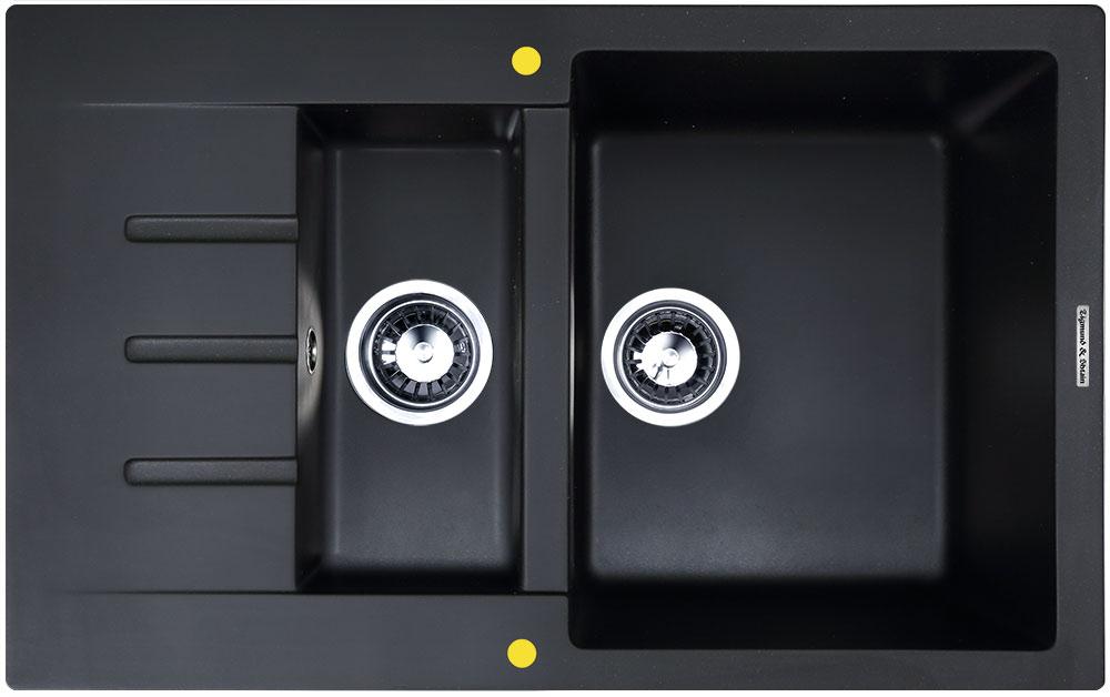 Мойка для кухни гранитная Zigmund & Shtain RECHTECK 775,2 черный базальт фото