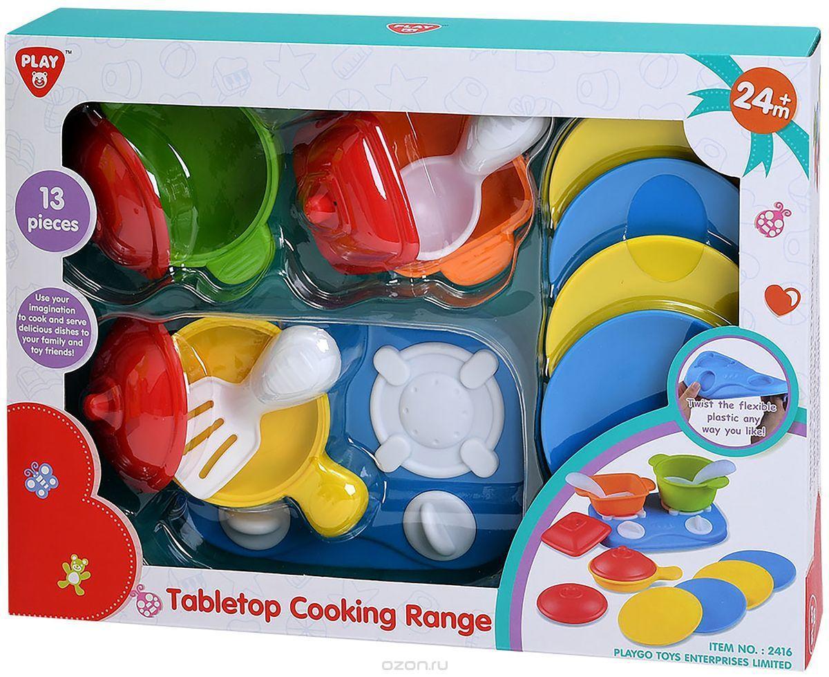 Купить Игровой набор Плита с посудой 13 предметов Play&Go, Детская кухня