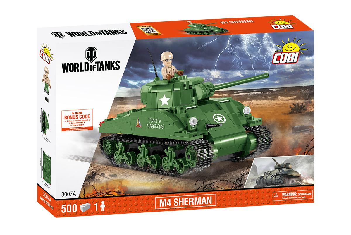 Купить COBI-3007A, Конструктор пластиковый Cobi танк M4 Sherman 3007A,