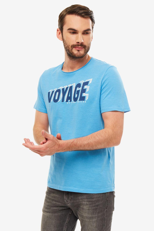 Футболка мужская TOM TAILOR голубая фото