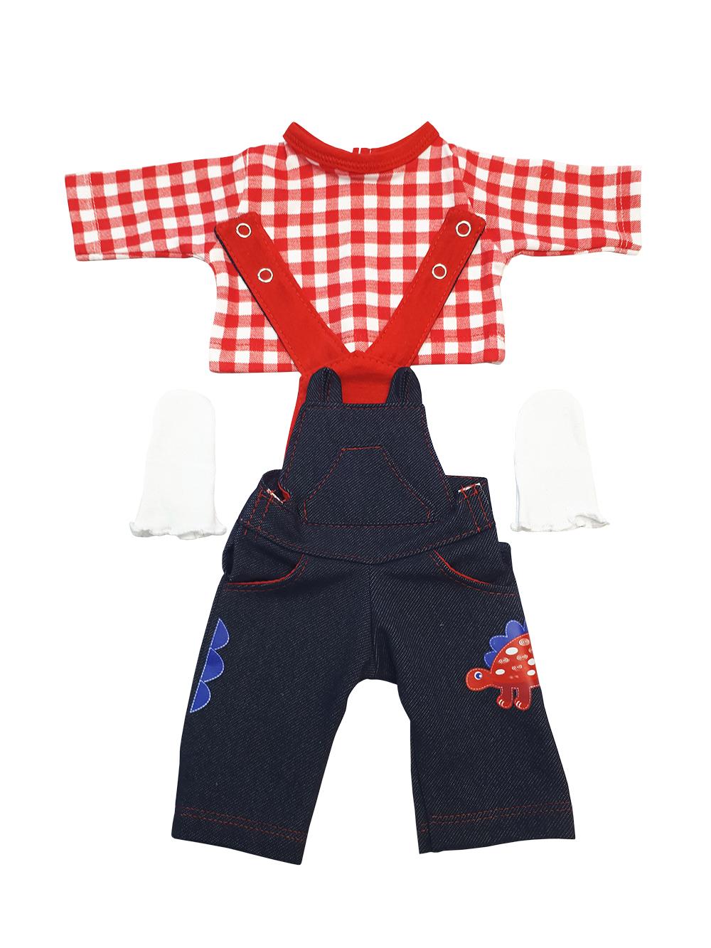 Набор одежды для кукол КоЛибри Комбинезон Колибри 310 синий красный белый фото