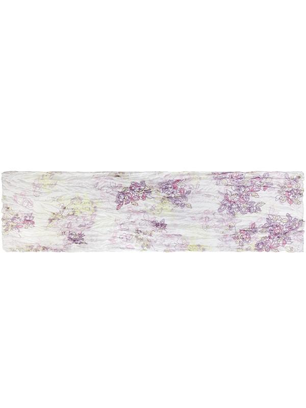 Палантин женский Eleganzza E05-7075 белый/фиолетовый фото