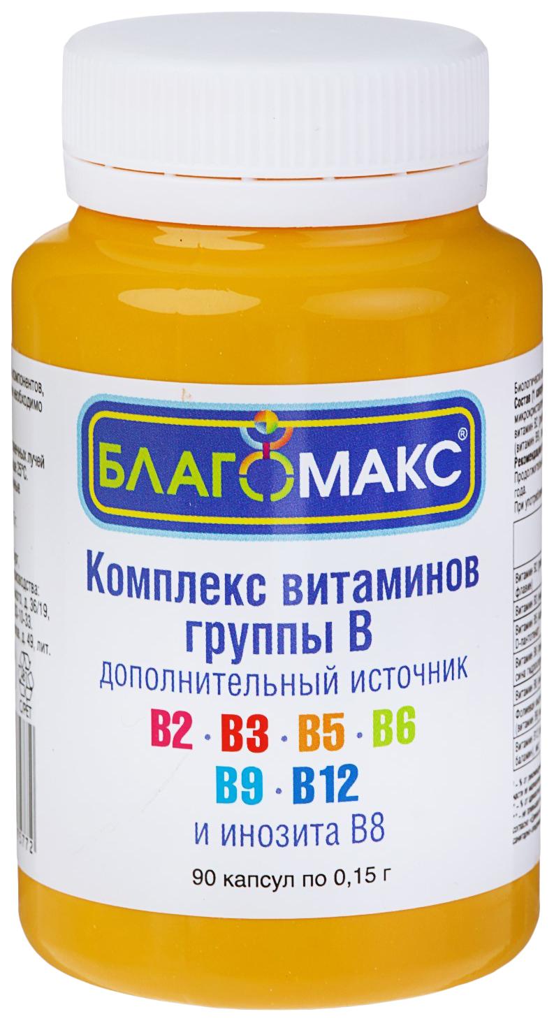 Купить Благомакс комплекс витаминов группы В капсулы 0, 15г N90