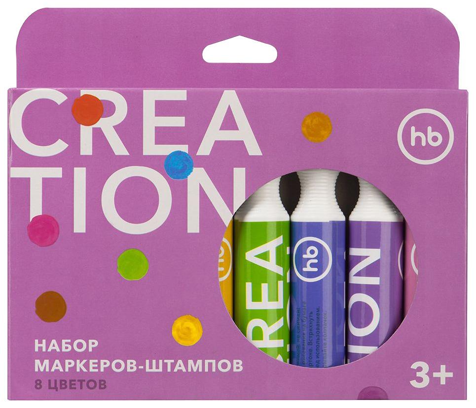 Набор маркеров-штампов Happy Baby «Creation» 8 цветов