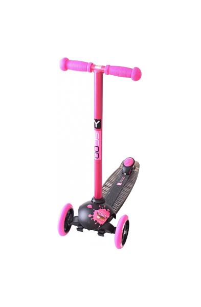 Купить Самокат трехколесный Y-SCOO RT TRIO DIAMOND 120 Monsters 1 высота pink Zoi, Самокаты детские трехколесные
