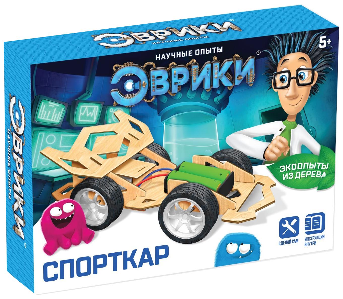 Купить Набор для опытов «Спорткар», работает от батарекк Эврики, Наборы для опытов