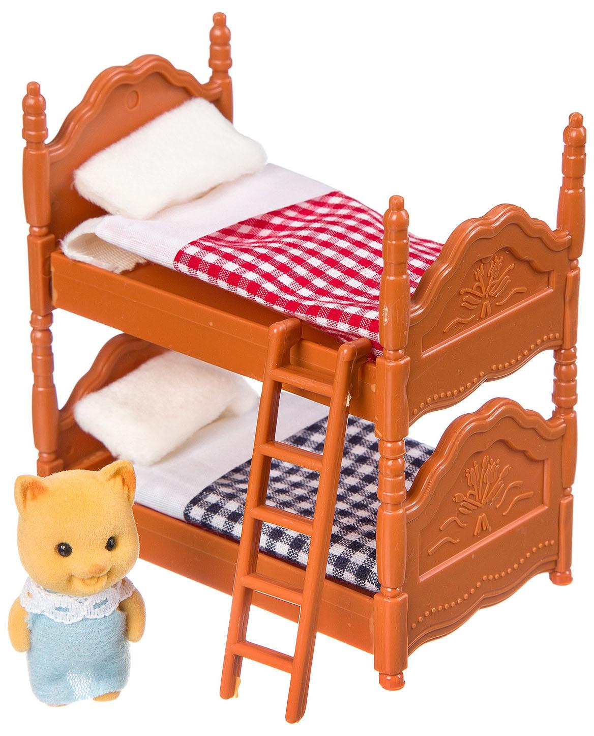 Игровой набор Junfa Toys Happy Family с фигуркой зверюшки, спальня