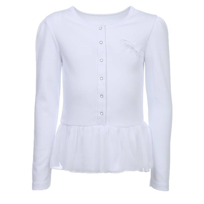 Купить 1750, 2, Блузка Снег, цв. белый, 128 р-р, Белый снег, Блузки для девочек