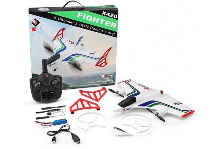 Купить Радиоуправляемый самолет WL Toys Cessna-182 RTF 2.4G WL Toys X420, WLToys, Радиоуправляемые самолеты