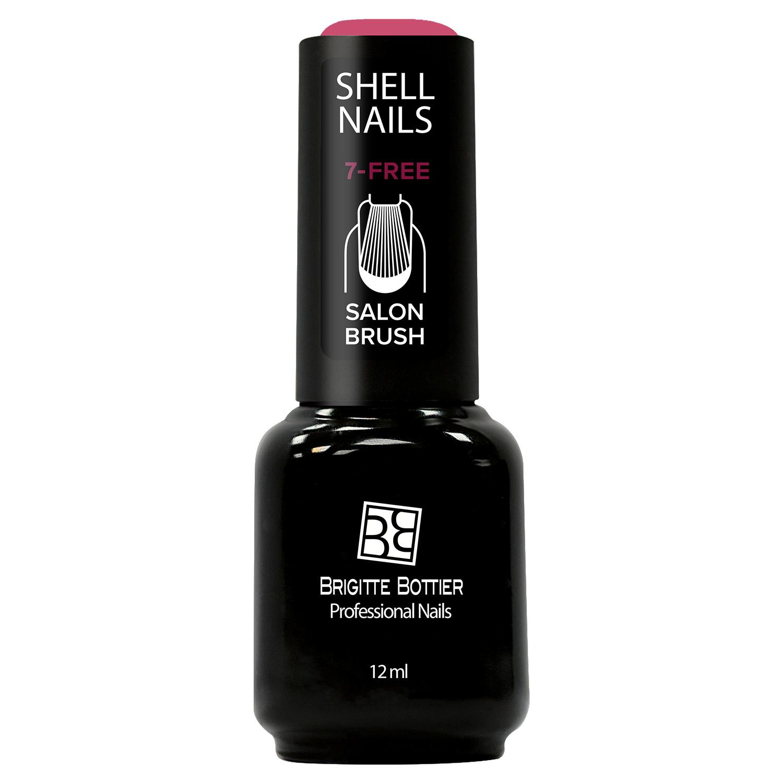 Гель-лак для ногтей Brigitte Bottier Shell Nails тон 980 малиновый с блестками, 12мл