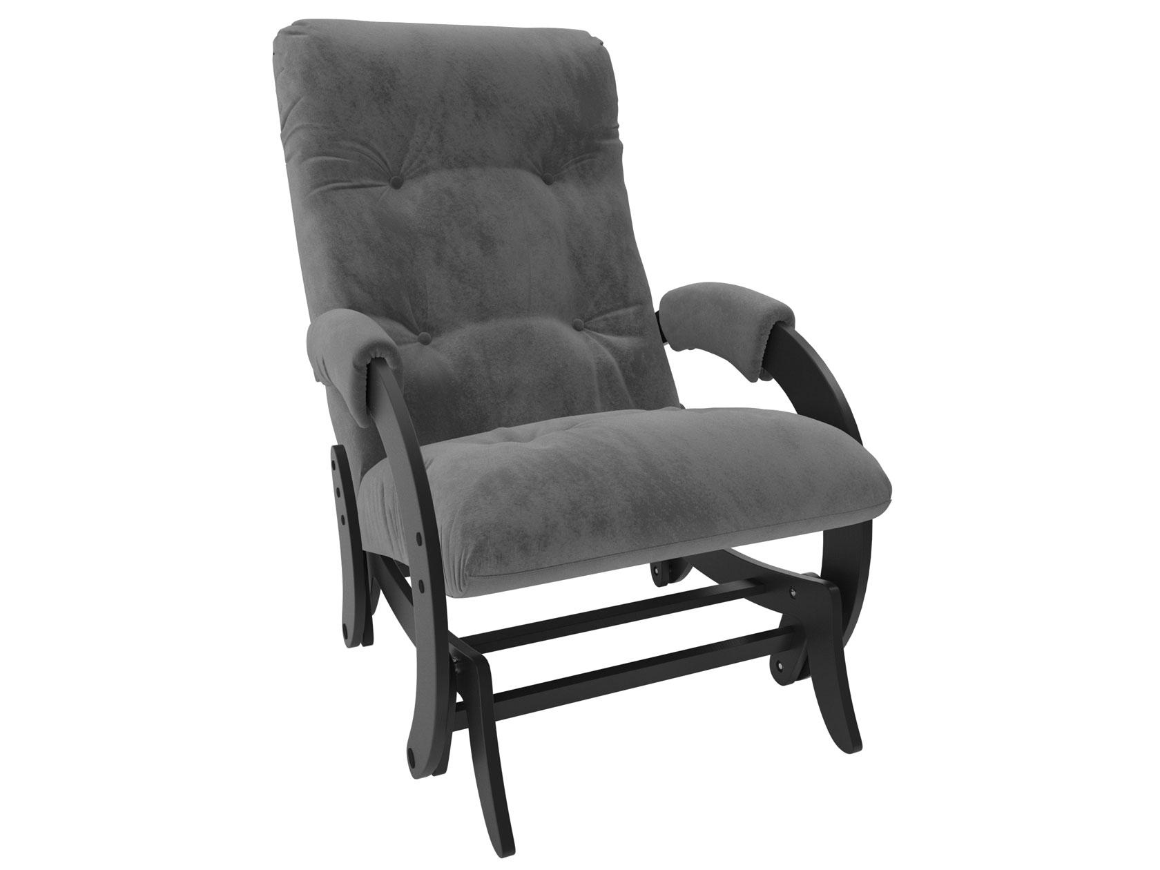Кресло-глайдер Мебель Импэкс Комфорт Модель 68 венге, Verona Antrazite Grey, велюр
