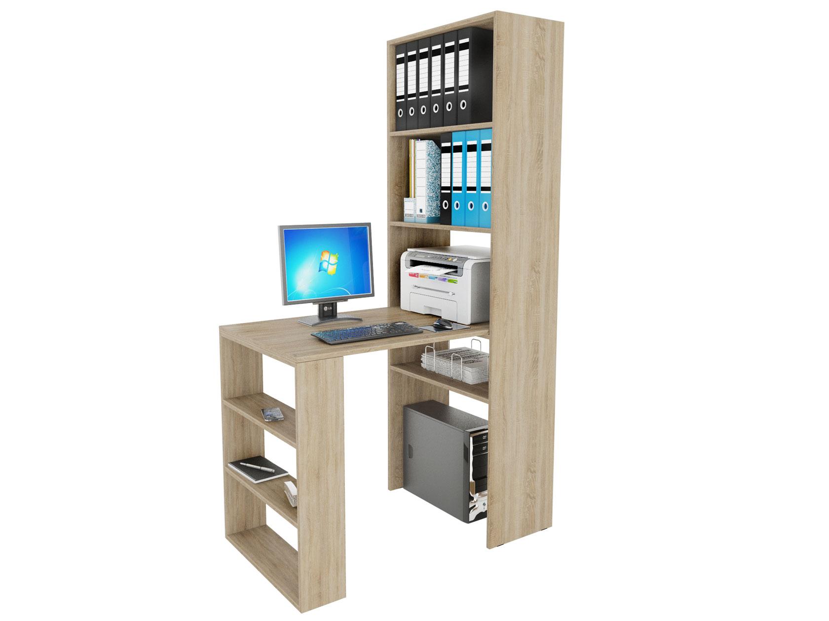 Компьютерный стол в комплекте МФ Мастер Рикс-4+Рикс-5 110x63,2x177, дуб сонома