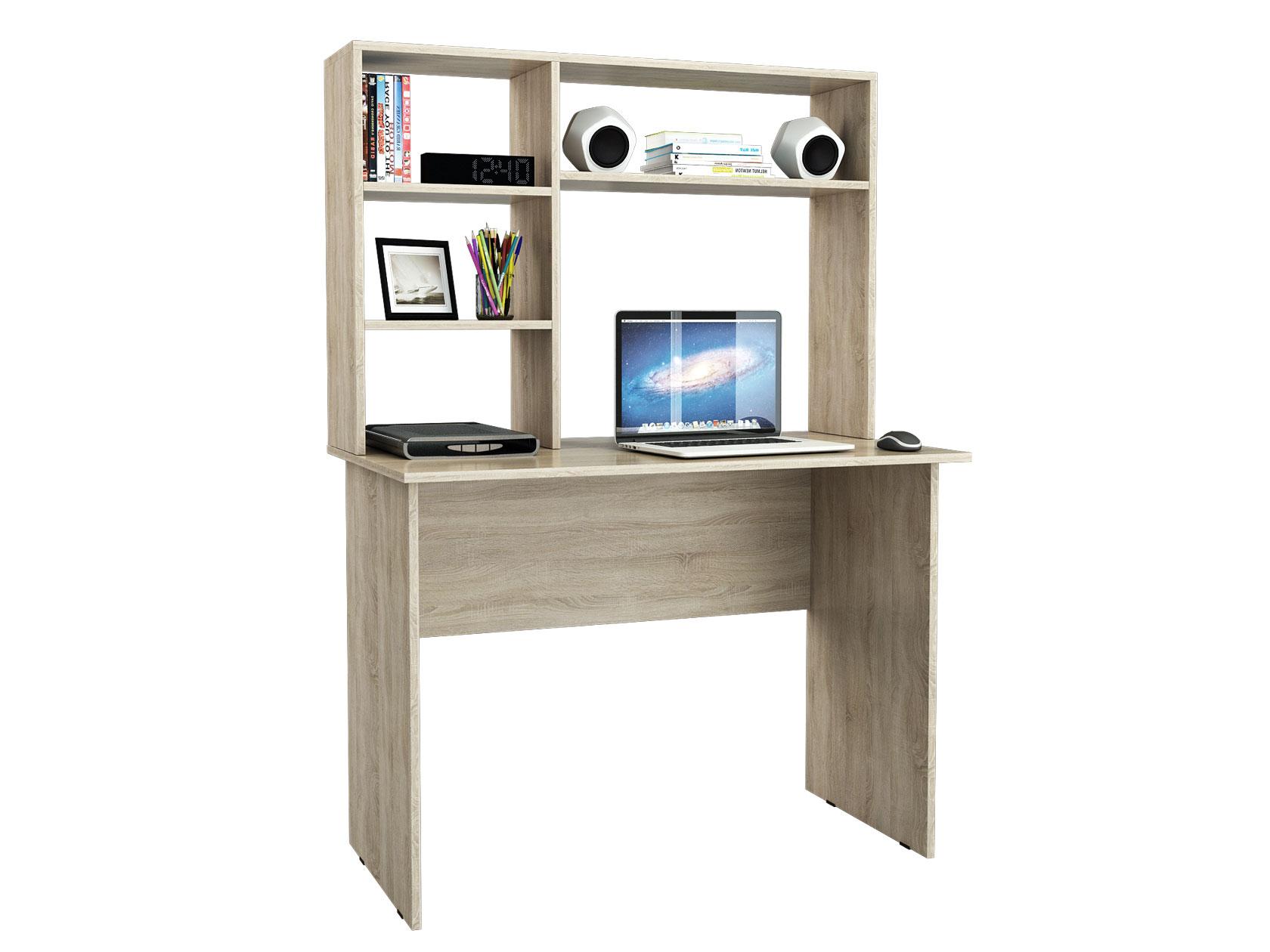 Компьютерный стол МФ Мастер Милан-5 110x60x145, дуб сонома