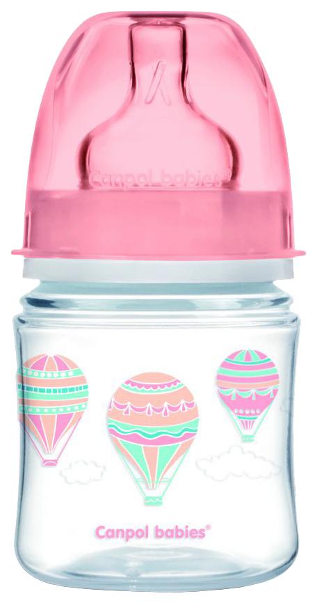 Купить Бутылочка Canpol In the clouds PP EasyStart арт. 35/224 120 мл 0м+ розовый, Бутылочки для кормления