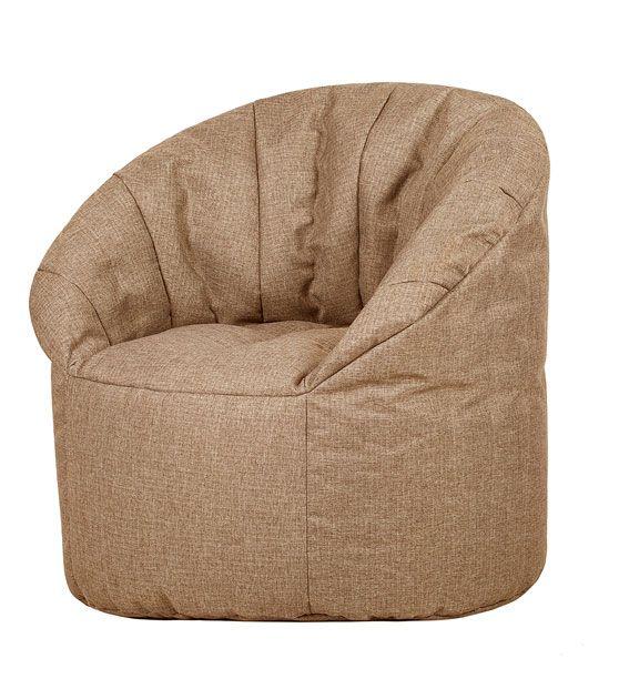 Кресло бескаркасное Папа Пуф Club Chair Biege, размер XL, рогожка, бежевый