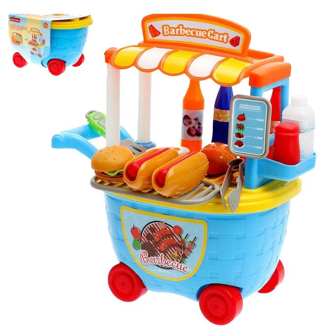 Купить Игровой модуль Sima-land кухня бургер барбекю, 29 предметов, Детская кухня
