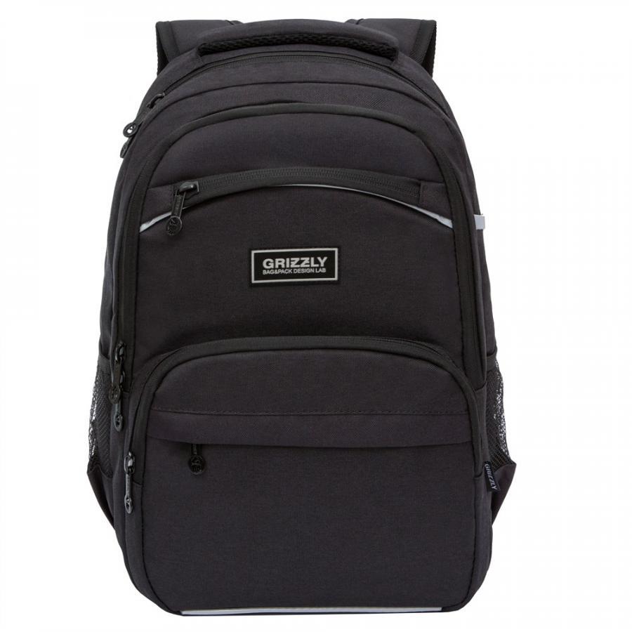 Купить Рюкзак школьный для мальчика Grizzly RB-054-6 черный,