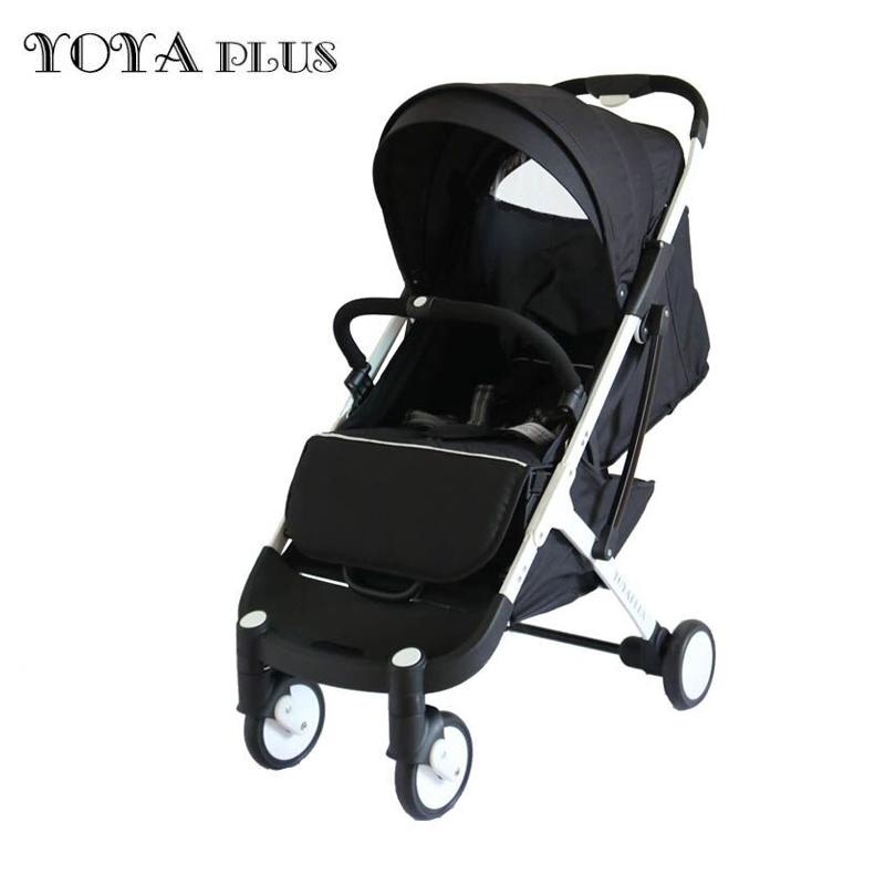 Купить Прогулочная коляска yoya plus черная белая рама, Коляски книжки