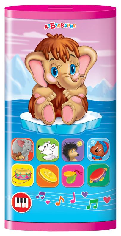 Интерактивная игрушка Азбукварик смартфончик Мамонтенок и мультяшки