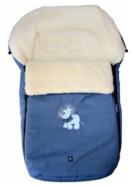 Купить Спальный мешок в коляску Womar №S77 Exlusive Lion Melange fabric Синий, Конверты в коляску