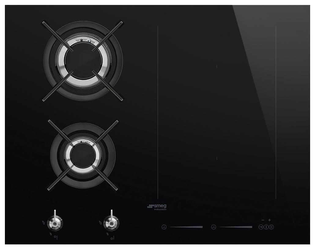 Встраиваемая варочная панель комбинированная Smeg PM3621WLD Black PM3621WLD по цене 126 890