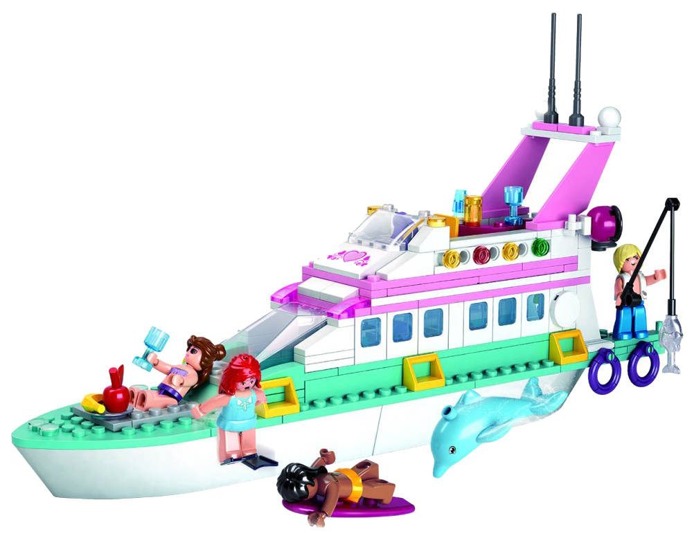 Конструктор пластиковый Sluban Яхта M38-B0609