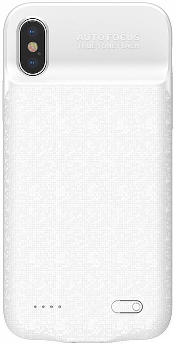 Чехол Baseus Plaid Backpack Power Bank 3500 mAh (ACAPIPHX-BJ02) для Apple iPhone X (White)