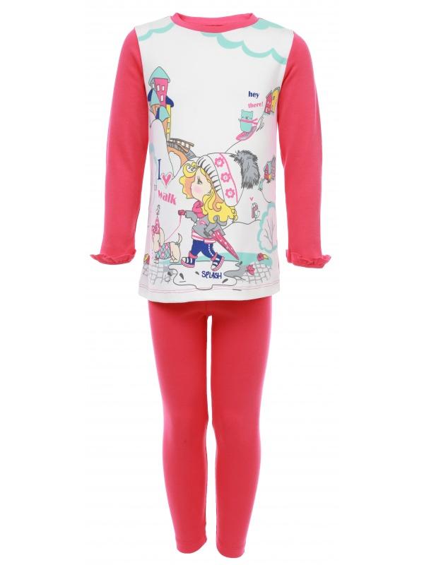 Комплект одежды детский Soni Kids Малиновый р.74