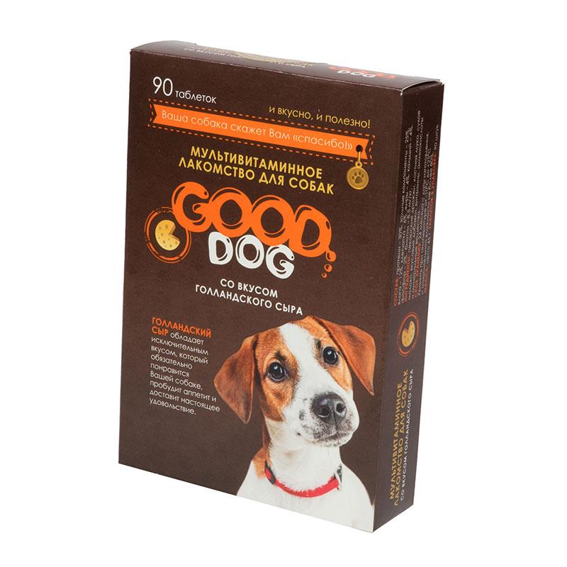 Лакомство для собак GOOD DOG, кусочки, голландский сыр, 45г