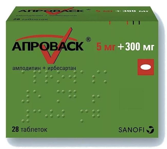 Купить Апроваск таблетки 5 мг+300 мг 28 шт., Sanofi Aventis