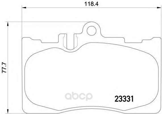Колодки тормозные дисковые передние lexus ls 00- Textar 2333102 фото
