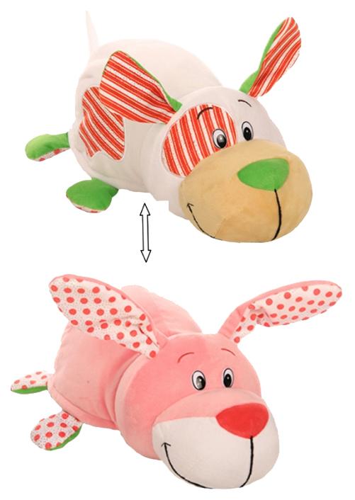 Купить Игрушка-вывернушка 1 TOY Ням-Ням Щеночек-Зайчонок с ароматом Мятно-фруктовой жвачки 40 см, Мягкие игрушки животные