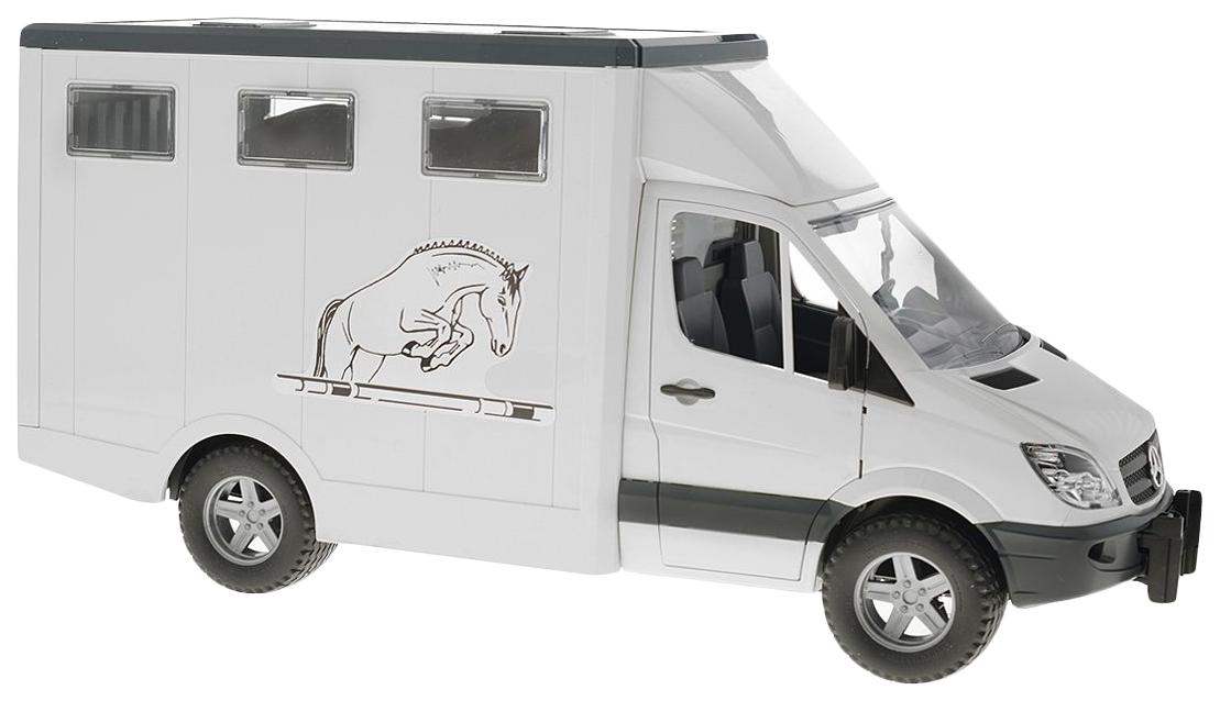Купить Машинка пластиковая Bruder Mercedes-Benz Sprinter фургон с лошадью 02-533, Игрушечные машинки
