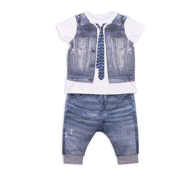 Комплект 2 пр. Папитто для мальчика Fashion Jeans 513-04 р.22-68