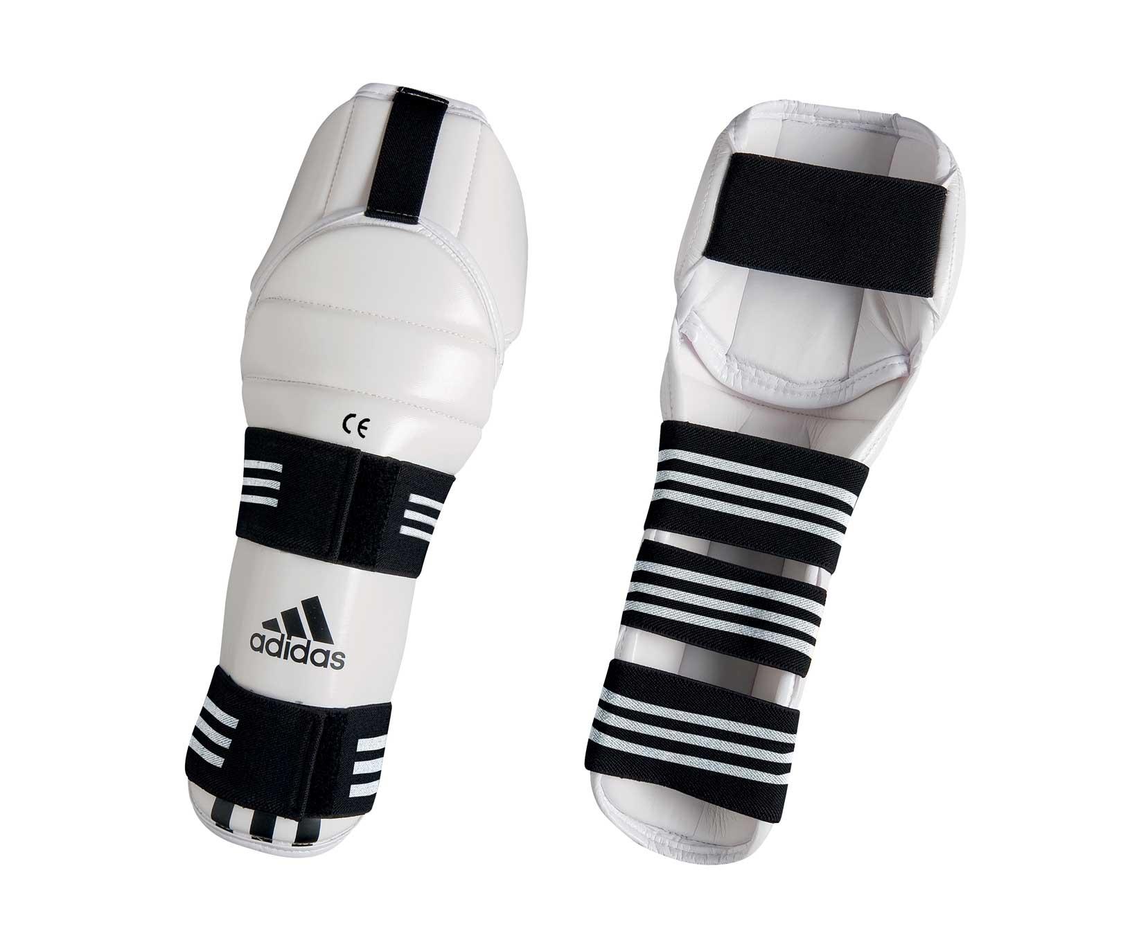 Защита голени и колена для тхэквондо Adidas WTF Shin & Knee Pad Protector белая S
